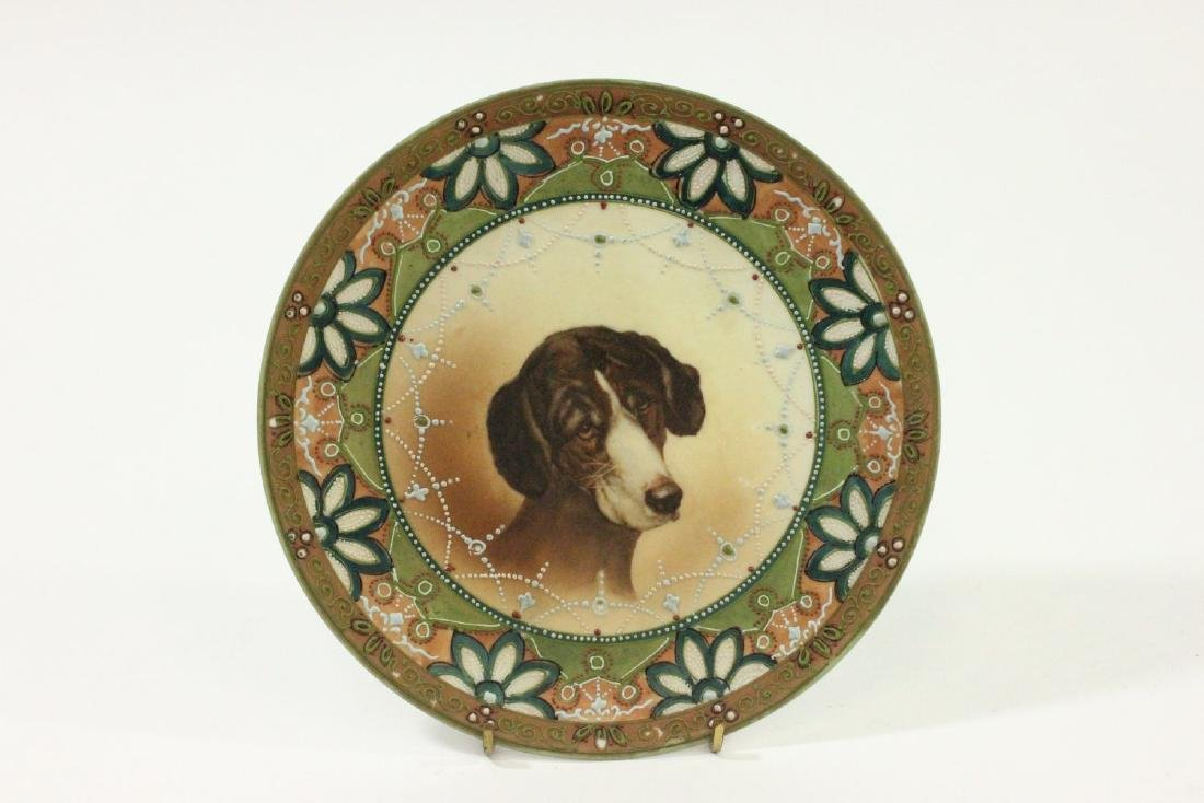 Nippon Handpainted Plate of Dog's Head