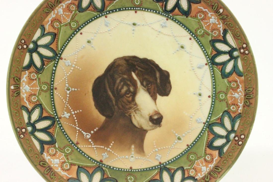 Nippon Handpainted Plate of Dog's Head - 2