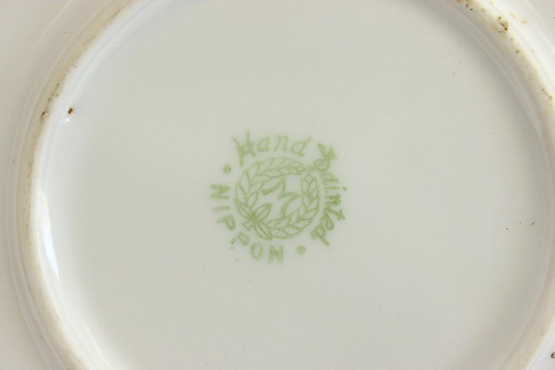 Nippon Blown Out Plate with Elk by River - 3