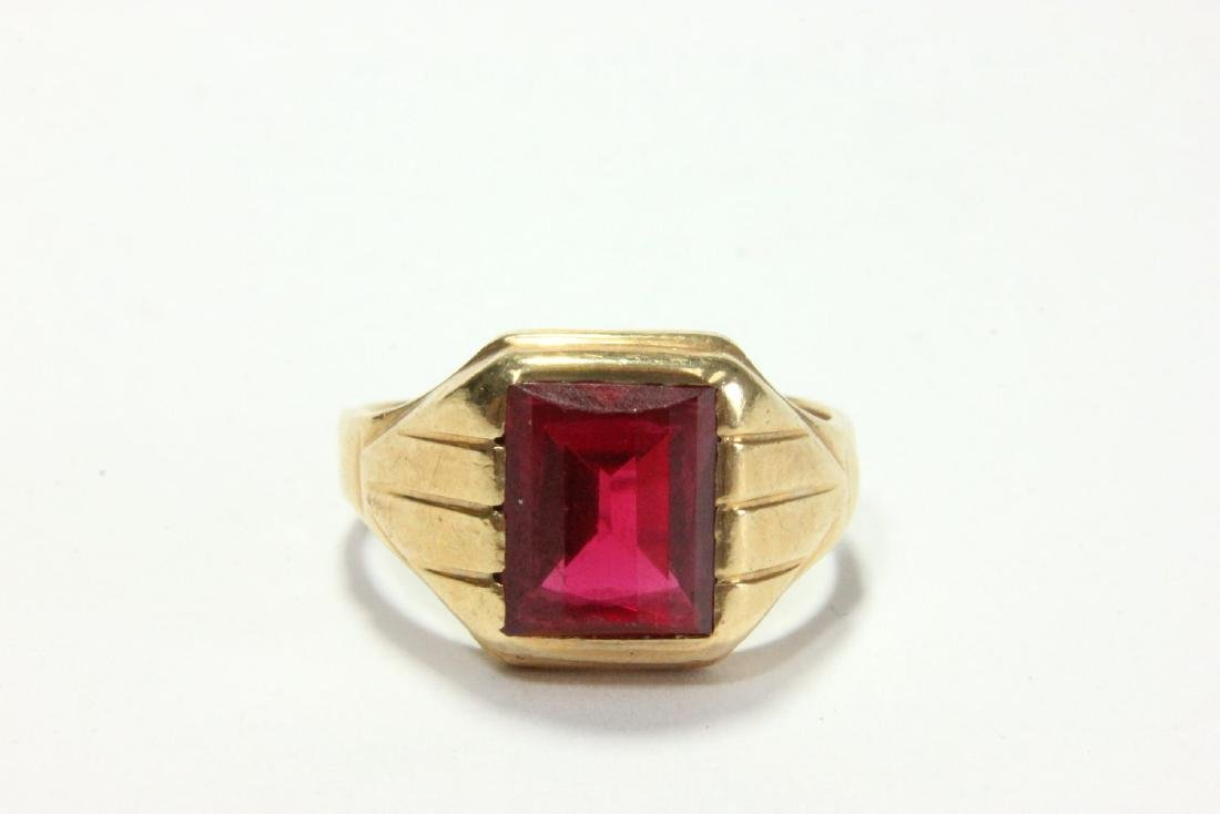 14K Gold & Spinel Stone Ring
