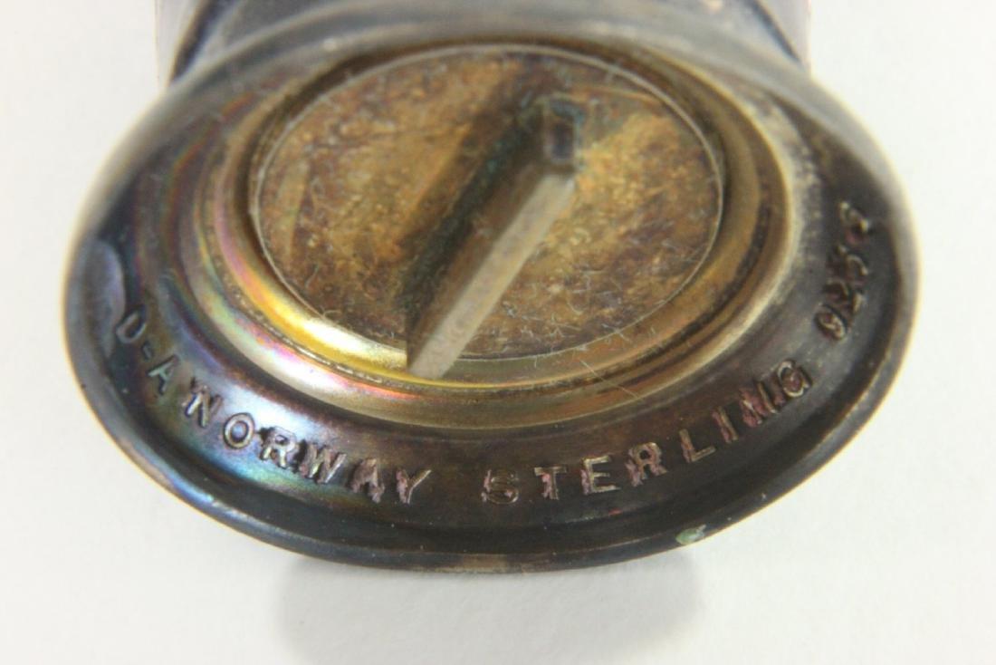 Sterling Silver & Enamel Owl Salt & Pepper - 7
