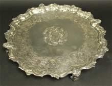 18th Century Georgian Sterling Silver Salver