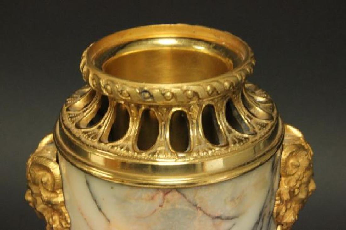 :Pair Bronze & Marble Urns - 4