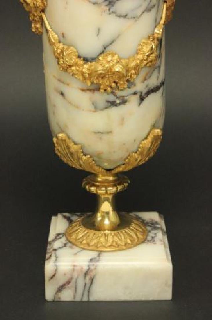 :Pair Bronze & Marble Urns - 5