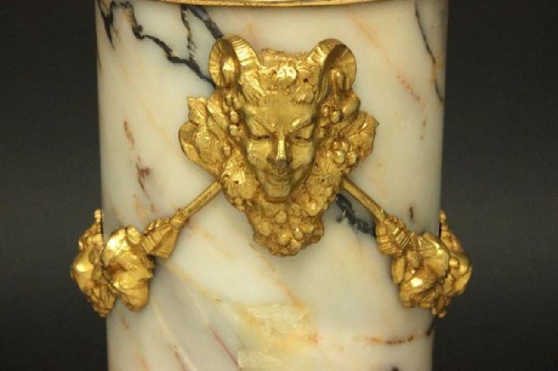 :Pair Bronze & Marble Urns - 7