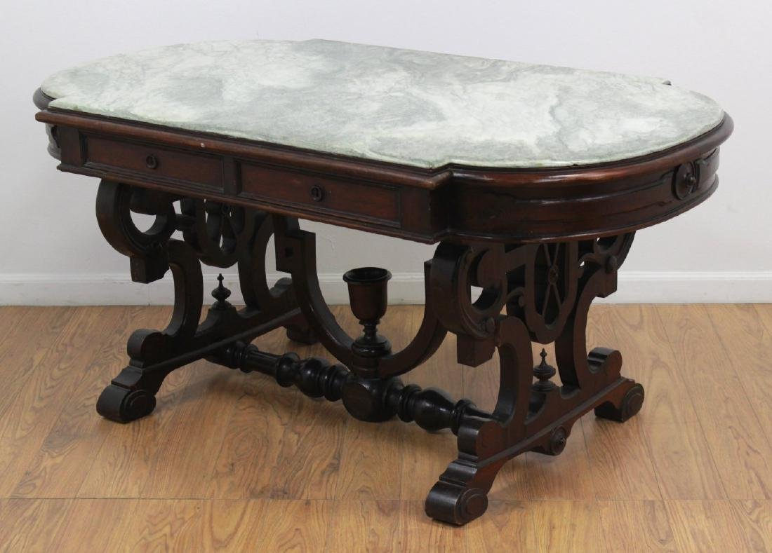 Renaissance Revival Marble Top Center Table