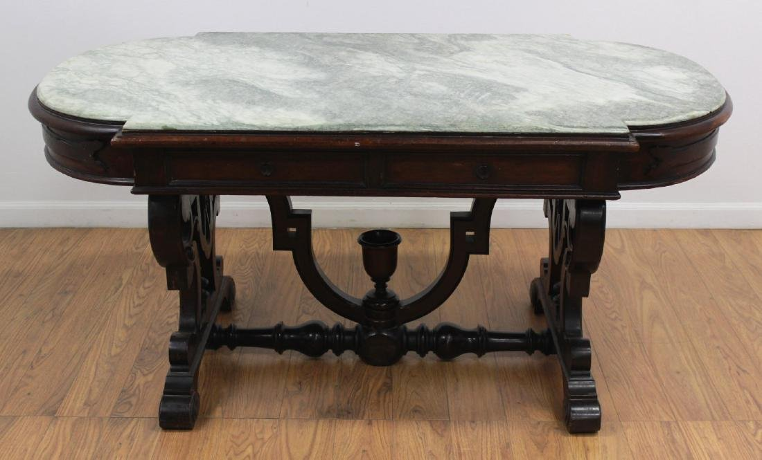 Renaissance Revival Marble Top Center Table - 2