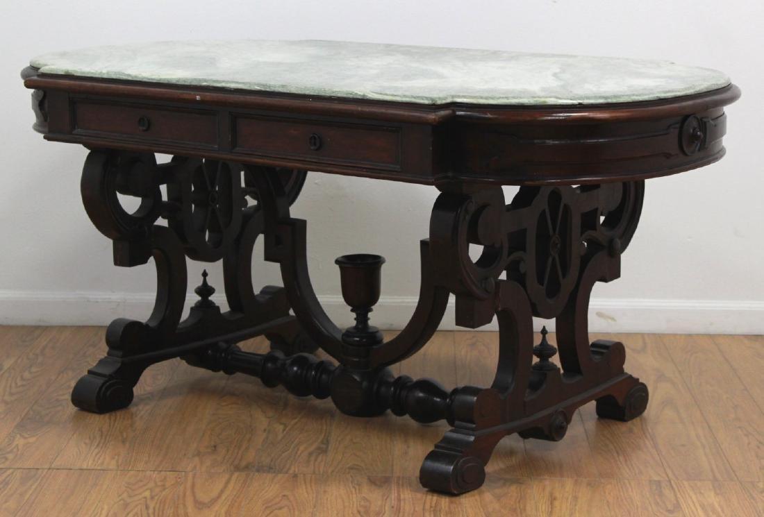Renaissance Revival Marble Top Center Table - 3