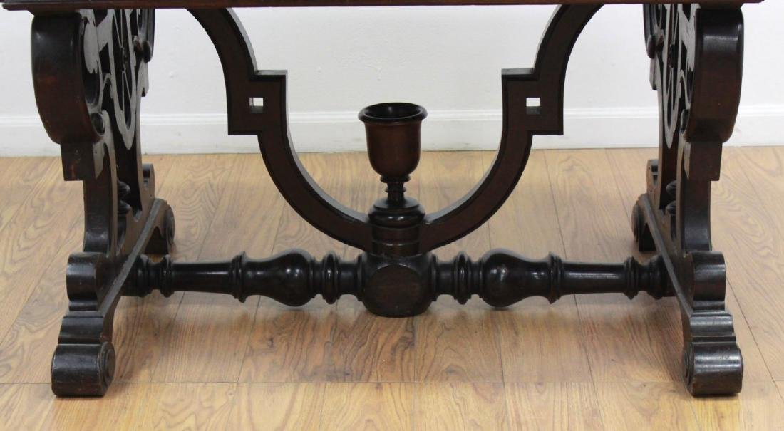 Renaissance Revival Marble Top Center Table - 4