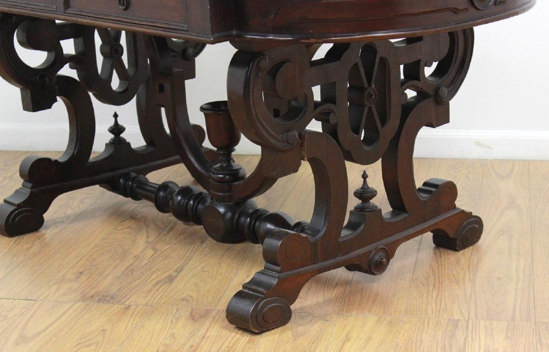 Renaissance Revival Marble Top Center Table - 5