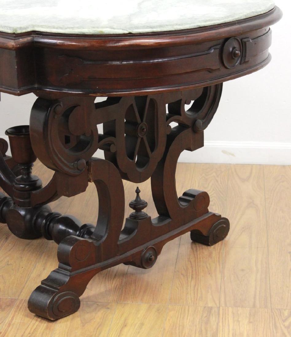 Renaissance Revival Marble Top Center Table - 6