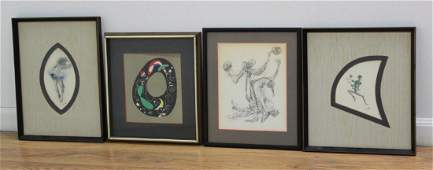 Group of 4 Works on Paper