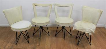 2 Pairs Mid-Century Modern Metal Side Chairs