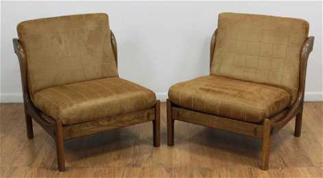 Pair Kofod Ln Slipper Chairs