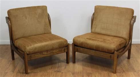 Pair Kofod Larsen Slipper Chairs