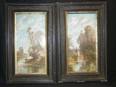 12: PAIR 19TH C. FRAMED PLAQUES