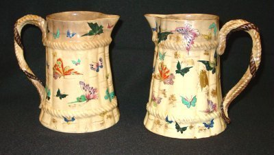 14: PAIR CHINESE POTTERY PITCHERS