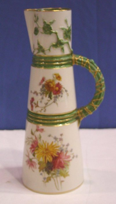 24: 19TH C. ROYAL WORCESTER PITCHER