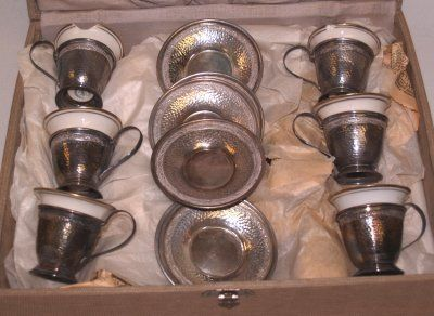 115: LENOX & STERLING DEMITASSE SET )