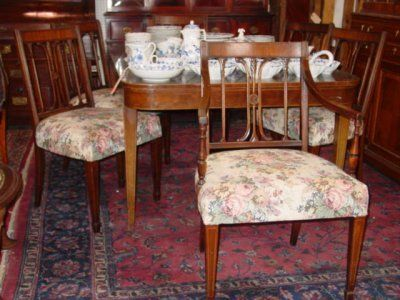 REGENCY DINING TABLE & 6 CHAIRS