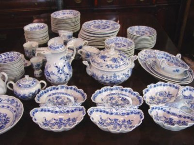 567: BLUE ONION DINNERWARE