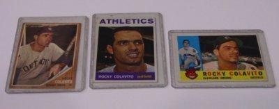 576: 3 ROCKY COLAVITO BASEBALL CARDS 1959