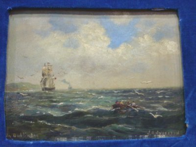 1108: OIL ON ARTIST BOARD SIGNED J. B. ANDERSON