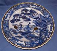 27: MID 20TH C. BLUE & WHITE JAPANESE CHARGER