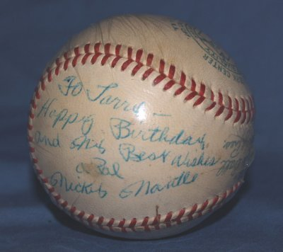 182: MICKEY MANTLE SIGNED BASEBALL