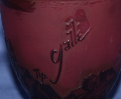 269: CAMEO VASE WITH GALLE SIGNATURE - 2