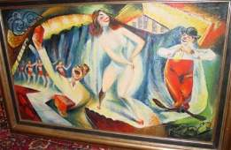 883 RUSSIAN OR AMERICAN OIL PAINTING ON CANVAS SIGNED