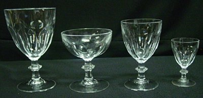44: SET OF CRYSTAL ATTRIBUTED BACCARAT