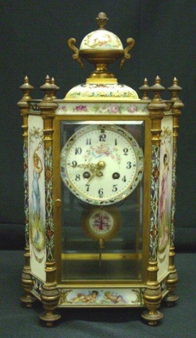 471: 19TH C. FRENCH BRONZE CRYSTAL REGULATOR CLOCK