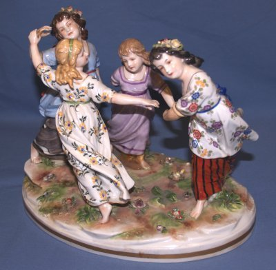 35: DRESDEN PORCELAIN GROUPING OF CHILDREN