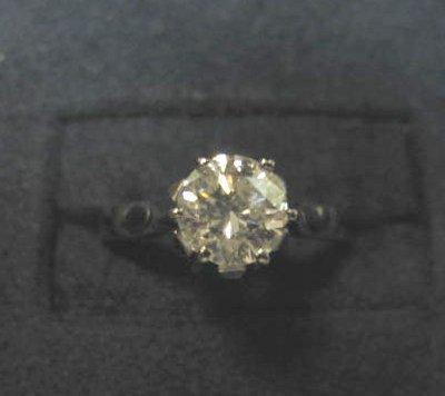 561: 14KT GOLD & DIAMOND RING
