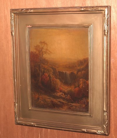 957: 19TH C. OIL PAINTING AMERICAN HUDSON RIVER