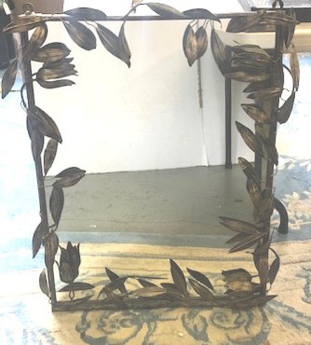 Gilt Metal Floral Mirror