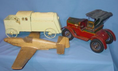 24: THREE ANTIQUE TOYS