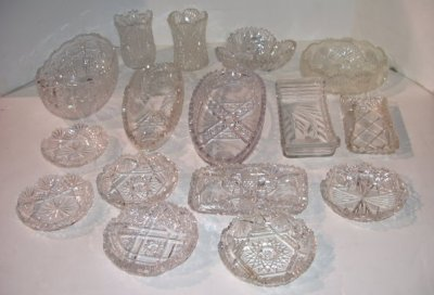 29: 16 PIECES CUT GLASS