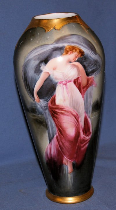 175: 19TH C.PORCELAIN HANDPAINTED PICKARD VASE