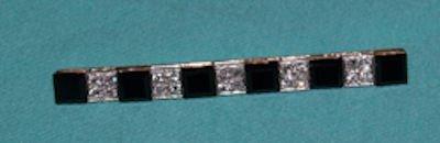 477: ART DECO GOLD, ONYX & DIAMOND BAR PIN
