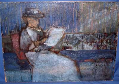 839: EARLY AMERICAN IMPRESSIONIST OIL PAINTING ON BOARD