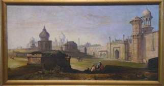 990: 19TH C. ORIENTALIST OIL PAINTING SIGNED FRERE
