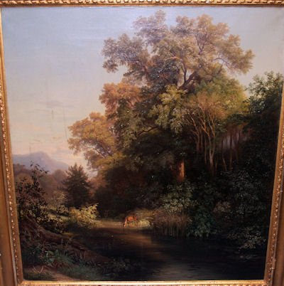 809: 19TH C. LANDSCAPE PAINTING SIGNED  A. BRODSZKY