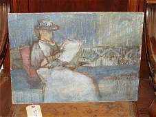 888 EARLY AMERICAN IMPRESSIONIST OIL PAINTING