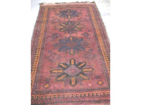 14: Handmade Tribal Rug Signed & Dated 1959