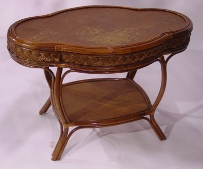 38: Late 20th C. Rattan Table