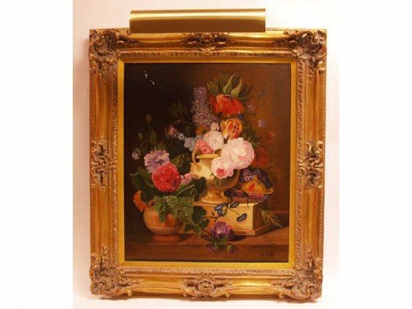 460: Gilt Framed Oil painting Canvas signed H. Antone