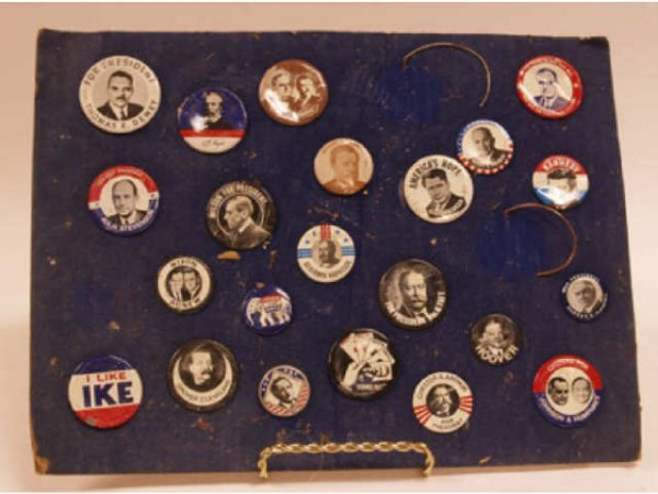 606: 22 Political Buttons (some as is)