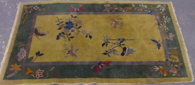 """604: Chinese Deco Rug Approx. 56"""" x 35"""""""